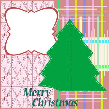 Beautiful Christmas tree illustration. vector christmas card
