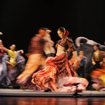 "CHENGDU - DEC 28: The Best Flamenco Dance Drama ""Carmen"" performed by The Ballet Troupe of Spanish Rafael Aguilar(The Ballet Teatro Espanol de Rafael Aguilar) at JINCHENG theater DECEMBER 28, 2008 in Chengdu, China."