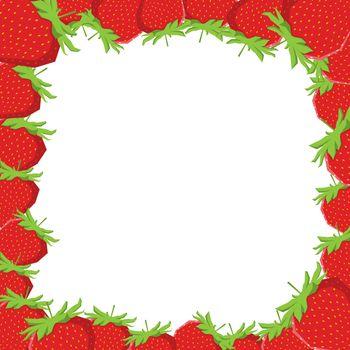 Strawberry frame, vector illustration, EPS file included