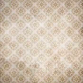 Old damasc wallpaper