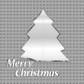 abstract vector steel christmas tree over iron background