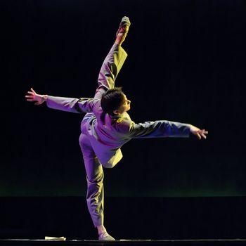 """CHENGDU - DEC 11: Beijing Dance Academy perform Solo dance """"Poem of long river"""" at JINCHENG theater.Dec 11,2007 in Chengdu, China. Choreographer: Xiao Xiangrong, Chang Xiaoni, Cast: Sun Rui"""