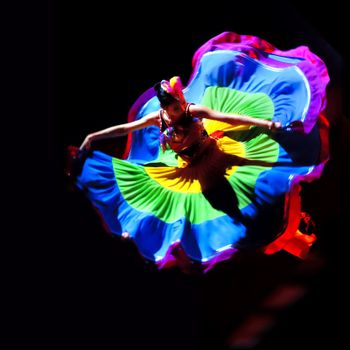 """CHENGDU - DEC 10: Duo dance """"Taste of Yi village"""" performed by Beijing Song and Dance Troupe at Golden theater in the 7th national dance competition of china on Dec 10,2007 in Chengdu, China. Choreographer & actor: Wang Ke, Yu Manman"""