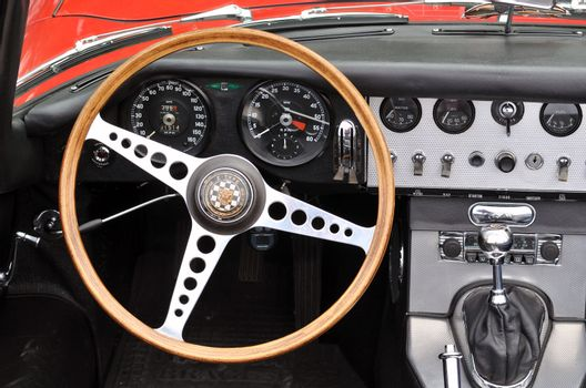Interior of Jaguar E type
