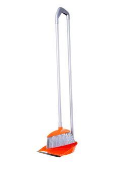Orange broom and scoop