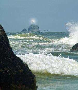 Terrible Tilly Lighthouse on Oregon Coast