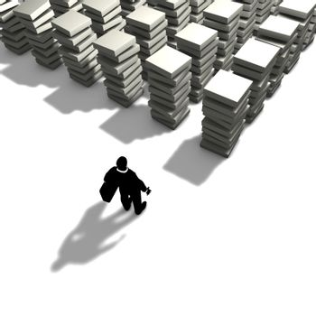 A man will organize its work