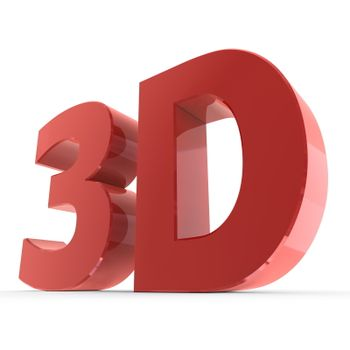 Shiny Word 3D - Glossy Red