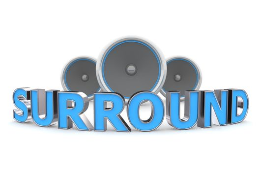 Three Speakers - Surround Bent in Blue