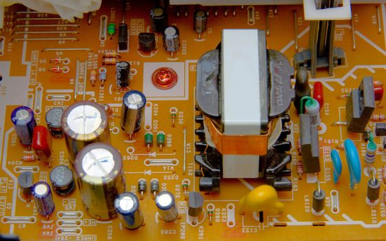 electronic board with  parts