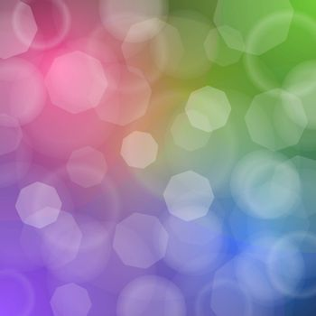 Scalable vector of blured lights with red green blue and purple colors