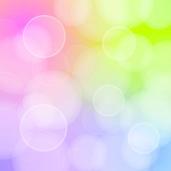 Vector Illustration of bokeh circles with red green blue and purple colors