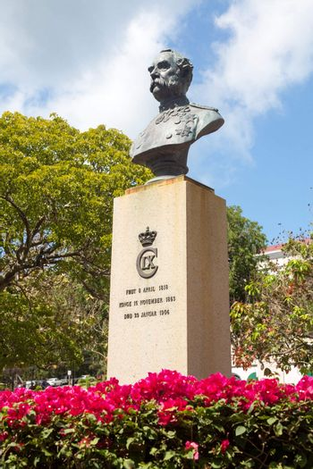 Bust of King Christian IX in Charlotte Amalie