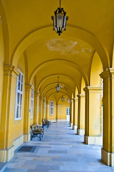 Colonnade in Schoenbrunn