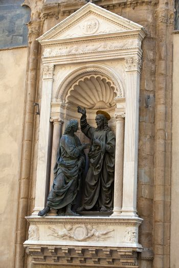 Florence - Church of Orsanmichele. Christ and St. Thomas