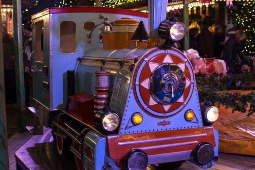 locomotive on a merry-go-round