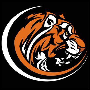 Tiger Mascot Graphic Vector Image