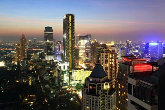 Bangkok Skyscraper Building Cityscape Thailand