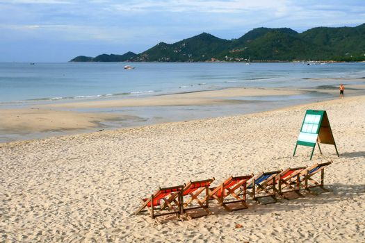 Beach Chair at Samui Island in Thailand