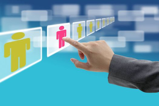 electronic business recruitment process for workforce human resource concept