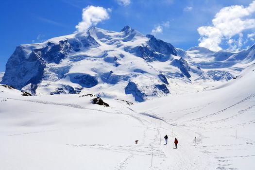 Hiking Way at Matterhorn