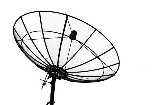 Satellite Dish isolated on White sky