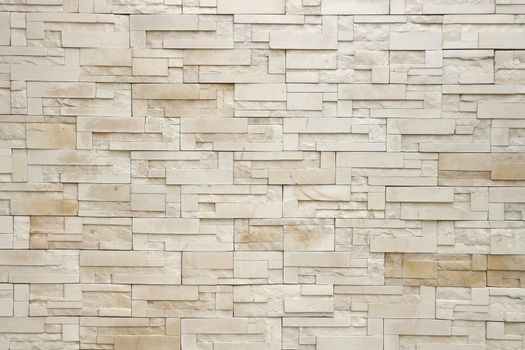Pattern of White Modern Brick Wall Surfaced