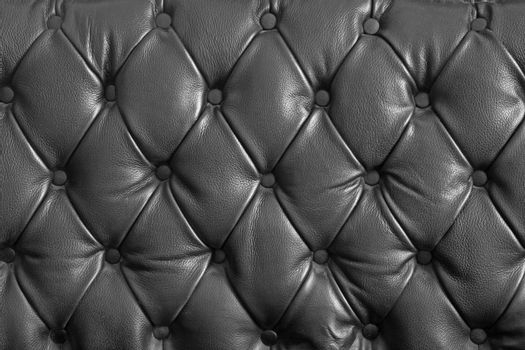 pattern of black genuine leather texture using as background