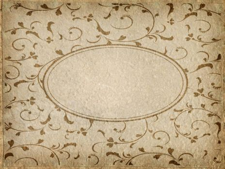 Vintage style of card Paper with space for text
