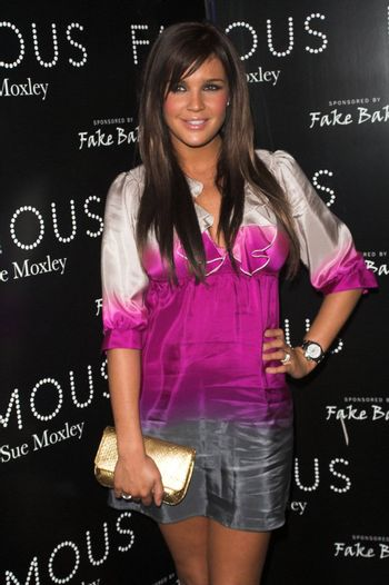 Danielle Lloyd at a party to promote new make-up collection Famous by Sue Moxley held at Paper in London