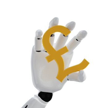 """The robotic hand hold the """"pound"""" sign"""