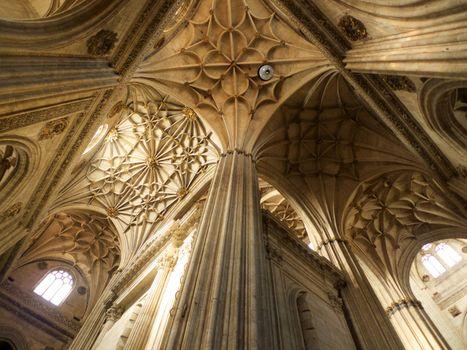 ceiling columns at Salamanca cathedral
