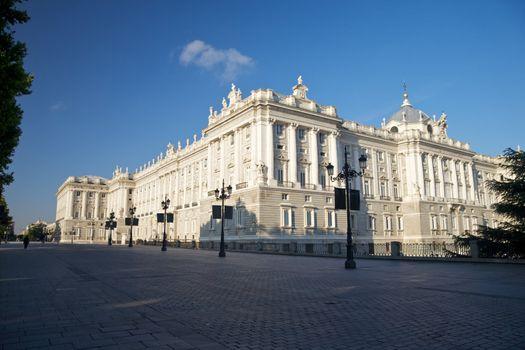 facade of Madrid royal palace