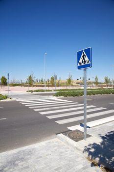 lonely crosswalk