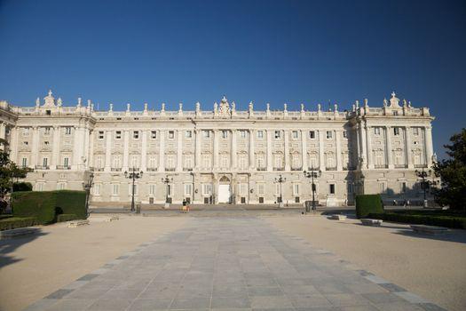 Madrid royal palace front