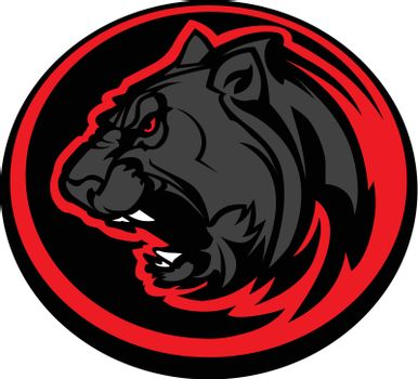 Panther Mascot Head Vector Graphic