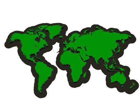 3D Map continent