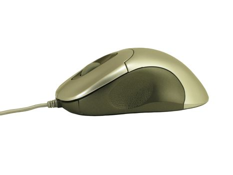 Optical computer mouse with scrollwheel isolated on white