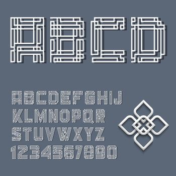 The alphabet and a collection of letters