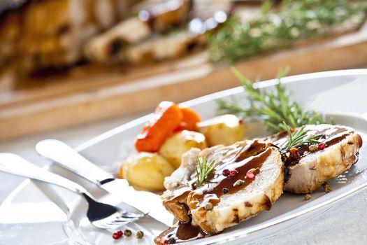 Slices of Roasted Pork