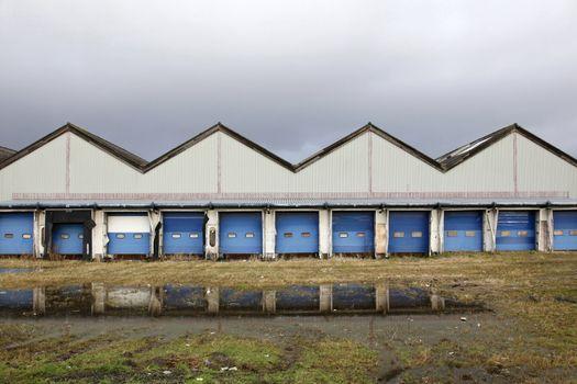deserted loading docks