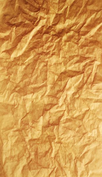 Textured obsolete crumpled packaging brown paper