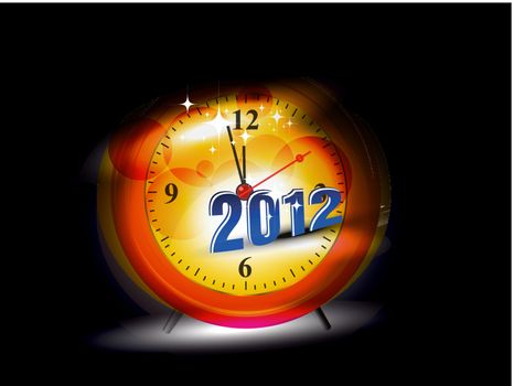 New Years card 2012 watch with fantastic abstract effect