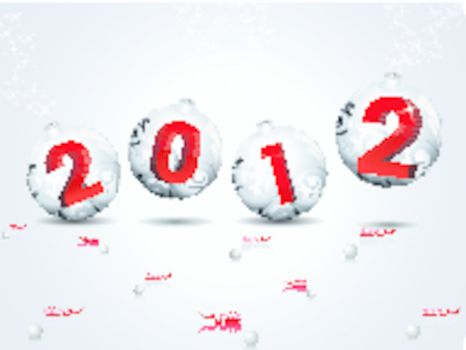 abstract grey shiny ball concept background  for new year