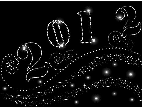 abstract black background with twinkle star wave concept vector for happy new year