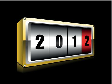 vector new year counter,board