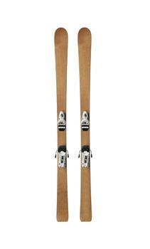 vintage pair of skis
