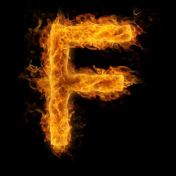 Flaming Letter F