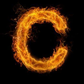 Flaming Letter C