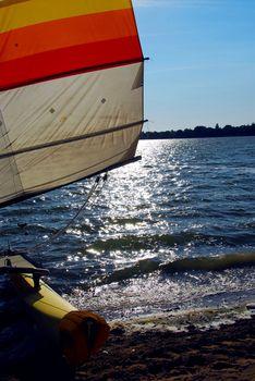 Sailboat backlit